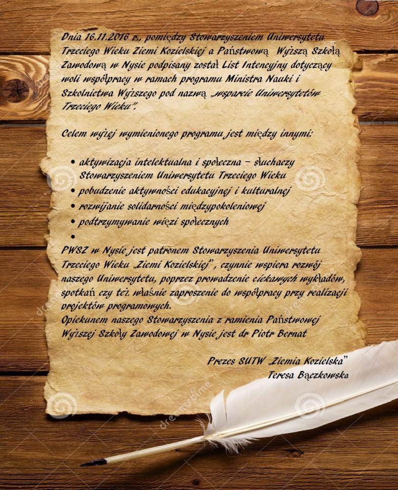 podpisanie listu intencyjnego z PWSZ w Nysie