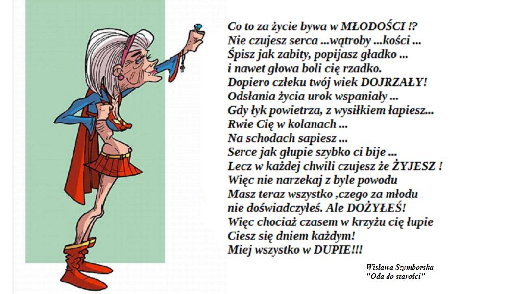 ODA DO STAROŚCI - Wisława Szymborska